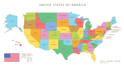 usa map with different states different states different driving requirements