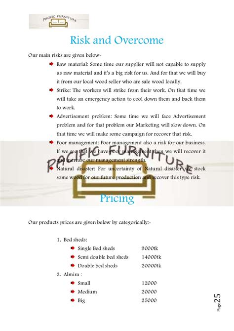 upholstery business plan business plan sle on furniture