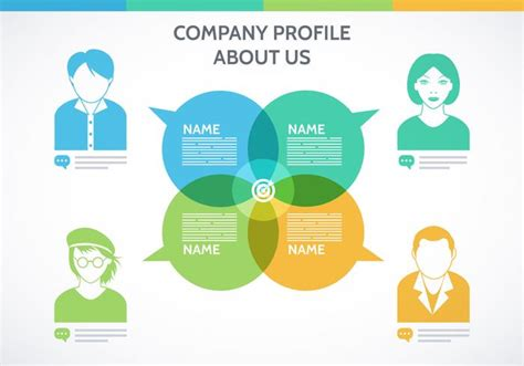 free company profile template vector download free