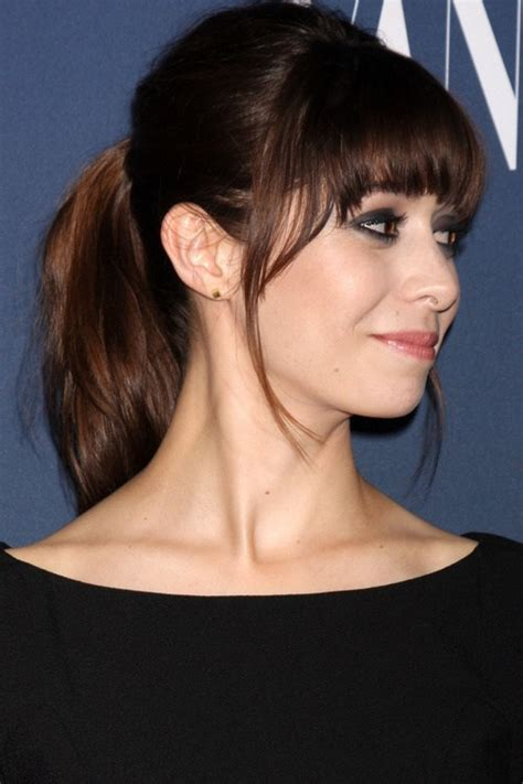 ponytail haircut for short layers front an top 25 best fringe hairstyles to refresh your look