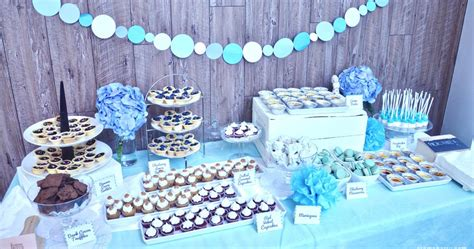 baby boy dessert table blue baby shower dessert table creme berry s