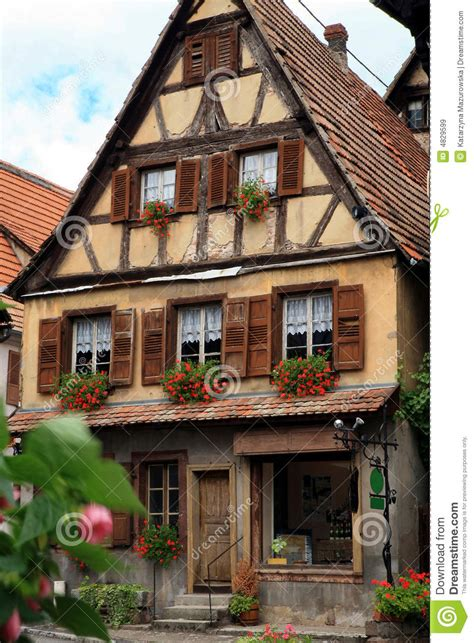 french village alsace france royalty  stock images