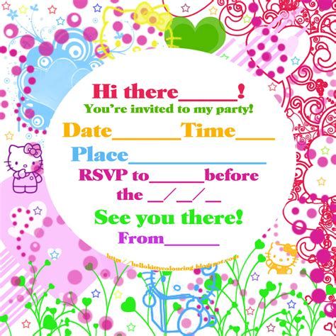 free hello kitty invitations printable new calendar