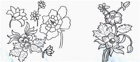 contoh gambar bunga  mudah guru batik membuat desain