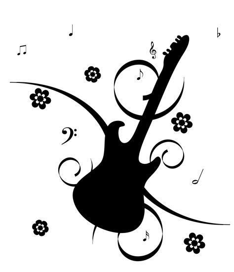 imagenes con notas sarcasticas guitarra con las notas musicales stock de foto gratis