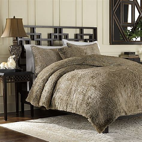 fur comforter sets buy faux fur bedding sets from bed bath beyond