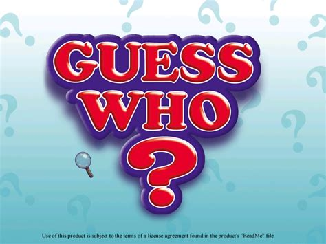 Guess Who by Guess Who Screenshots For Windows Mobygames