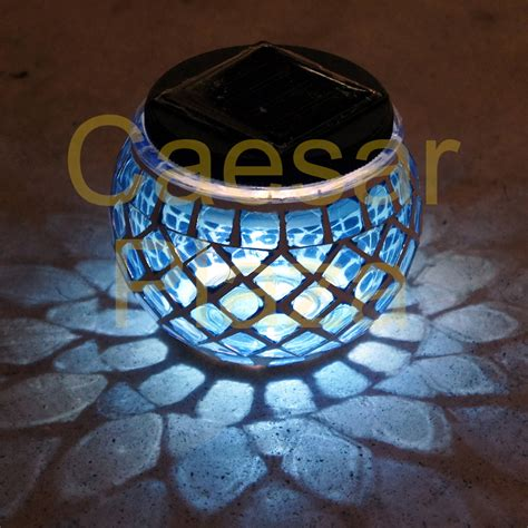 Solar Mosaic Garden Lights 6 Outdoor Garden Solar Mosaic Glass Landscape Path