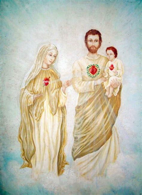 imagenes de jesus y maria juntos la sagrada familia corazones de jes 250 s jos 233 y mar 237 a