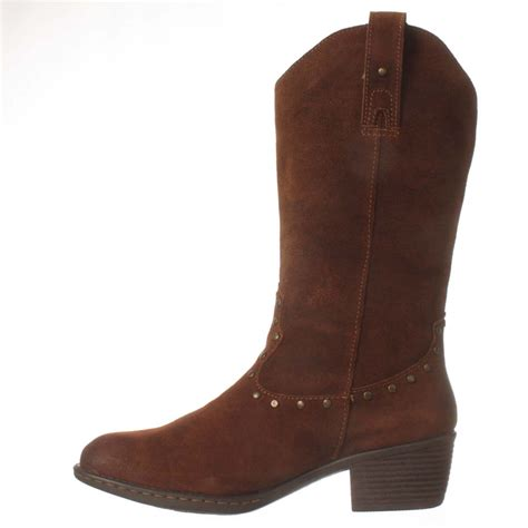 born concept rhonda mid calf boot in brown lyst