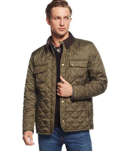 How To Make A Quilted Jacket by Barbour Tinford Quilted Jacket In Green For Olive Lyst