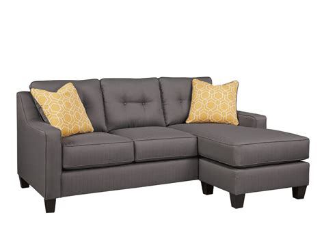 gray couch with chaise aldie nuvella gray sofa chaise louisville overstock