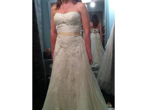 Recycled Denim Watters Wedding Dress For Diffa by Watters 1063b Wedding Dress Wedding Recycle