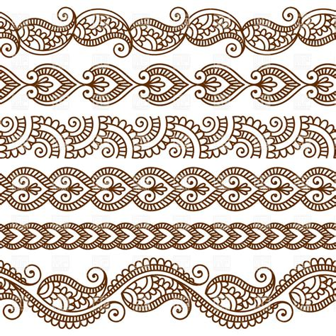 indian pattern frame borders and frames in mehndi style ethnic ornament