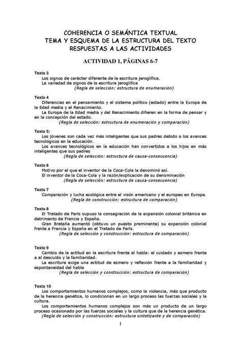 Respuestas a los ejercicios de tema y esquema (1º