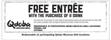 printable menu for qdoba all you need qdoba coupons