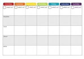 weekly meal planner template free sanjonmotel