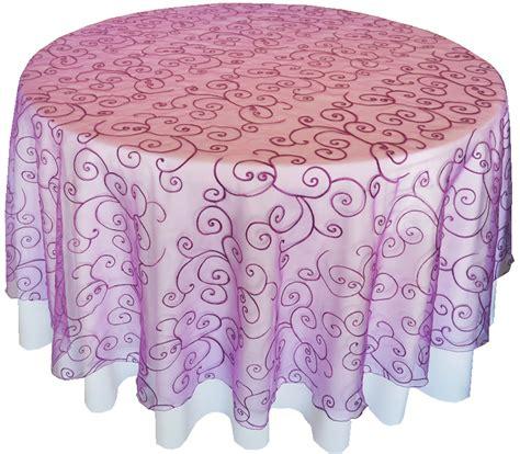 purple table overlays purple embroidered organza table overlays