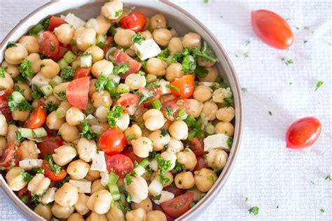 chickpea salad greek chickpea salad recipe