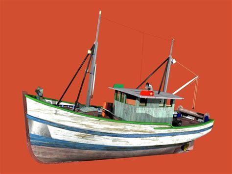 fishing boat trawler trawler fao fishing boat 3d model max obj blend wrl wrz