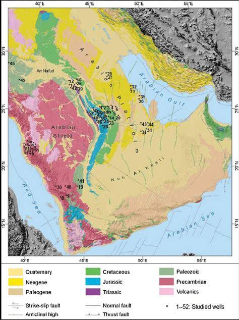 arabian peninsula map location fig 1 geological map of arabian peninsula showing