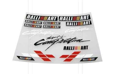 1 Set Sticker Stiker Mitsubishi Pajero newest 3d ralliart car styling decal decoration stickers