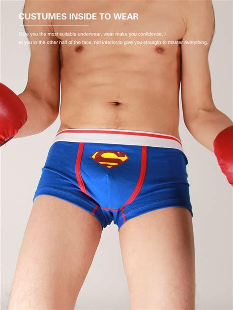 model boy jocstrap shorts 5pcs lot cartoon superman underwear men s underwear men s