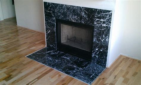 fireplace marble tile contemporary family room
