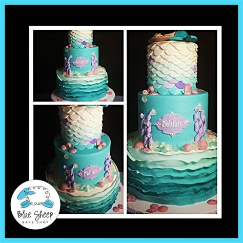 Mermaid Baby Shower Cake by Mermaid Baby Shower Cake Blue Sheep Bake Shop