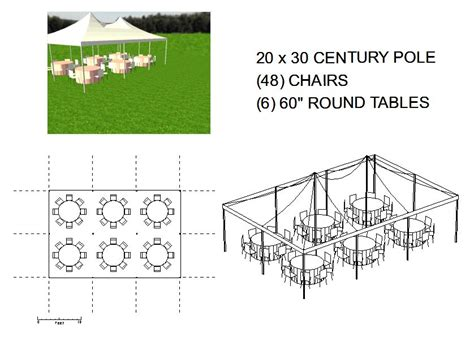 how many tables fit under a 20x20 tent 20x30 pole tent seats 48 michiana tool and party rental