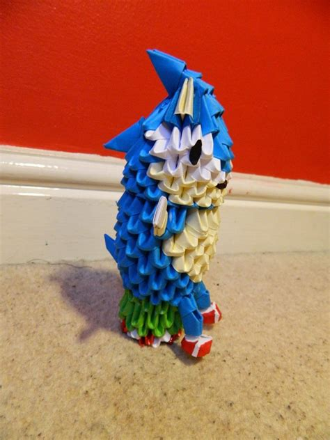 3d origami sonic by bazz1392 on deviantart