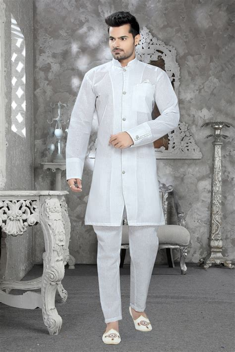 pattern kurta pajama buy cotton kurta pajama in off white color nmk 2275