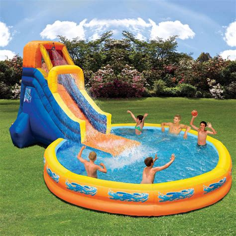 water slides for backyard pools outdoor water slide and pool outdoor furniture design and ideas