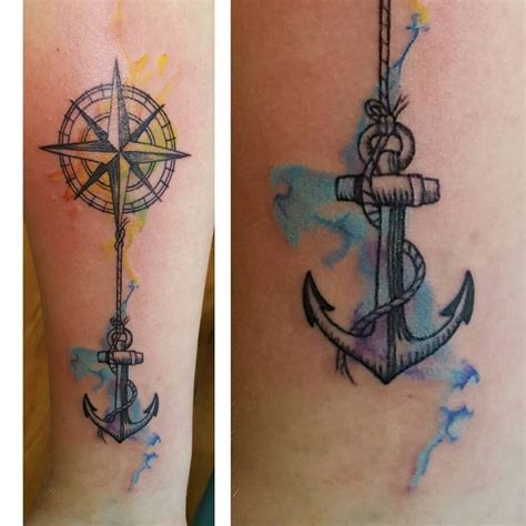rose and anchor tattoos best 25 watercolor anchor ideas on