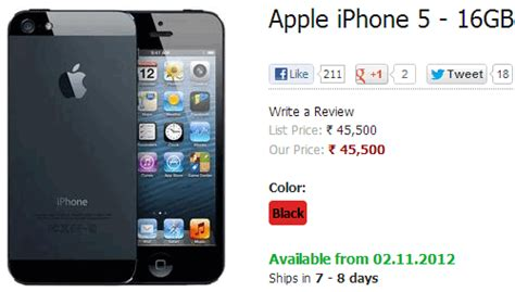 5 Iphone Price In India Buy Apple Iphone 5 On Airtel India For Rs 45500 Coming November 2