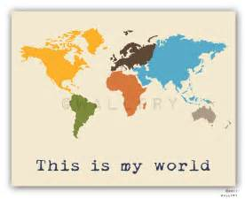 World Map Print by Kids Wall Art World Map Print Childrens Wall Art Kid