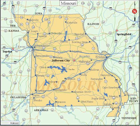 mo map missouri facts and symbols us state facts