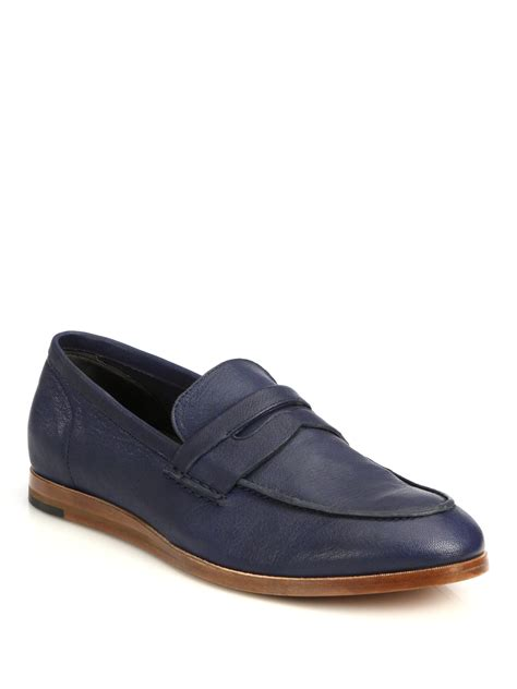 cole haan blue loafers lyst cole haan bedford loafers in blue for