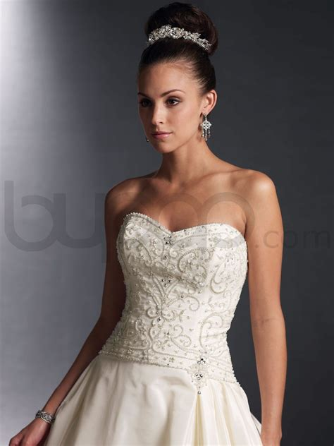 Wedding Dress With Beaded Bodice Sangmaestro