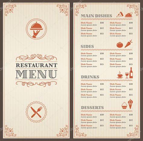 14 Free Menu Designs Exles Psd Ai Restaurant Menu Template
