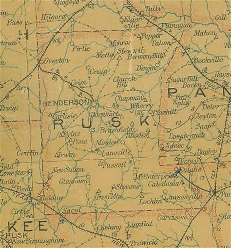 rusk county texas map stewart texas