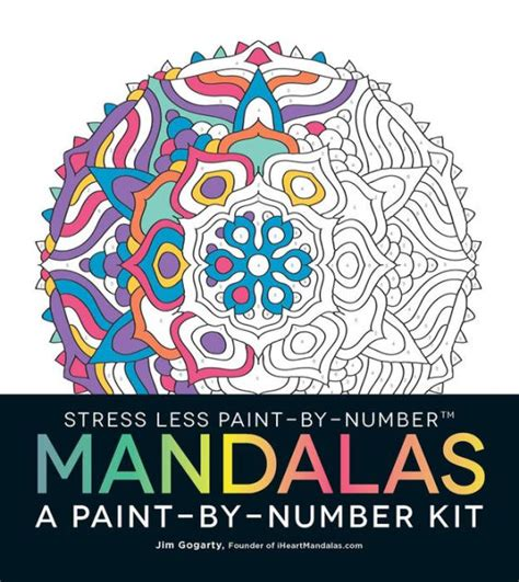 Free Barnes And Noble Gift Card Number - stress less paint by number mandalas a paint by number kit by jim gogarty paperback