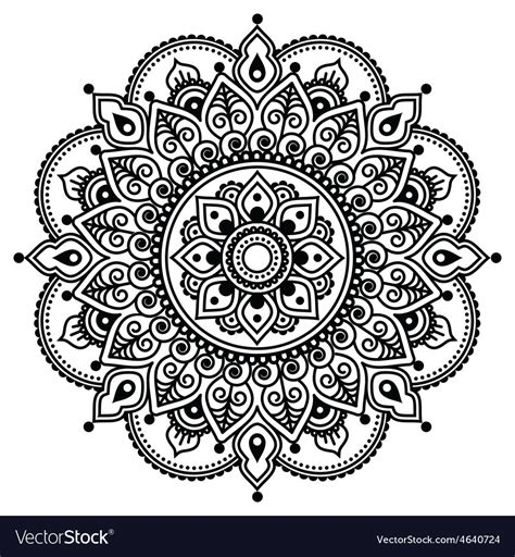 henna tattoo background mehndi indian henna pattern or background vector image