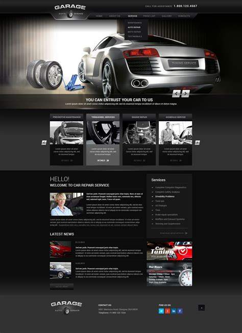 template tuning car tuning car service theme gridgum