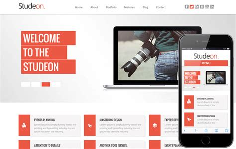 bootstrap templates for web design company studeon a corporate business flat bootstrap responsive web