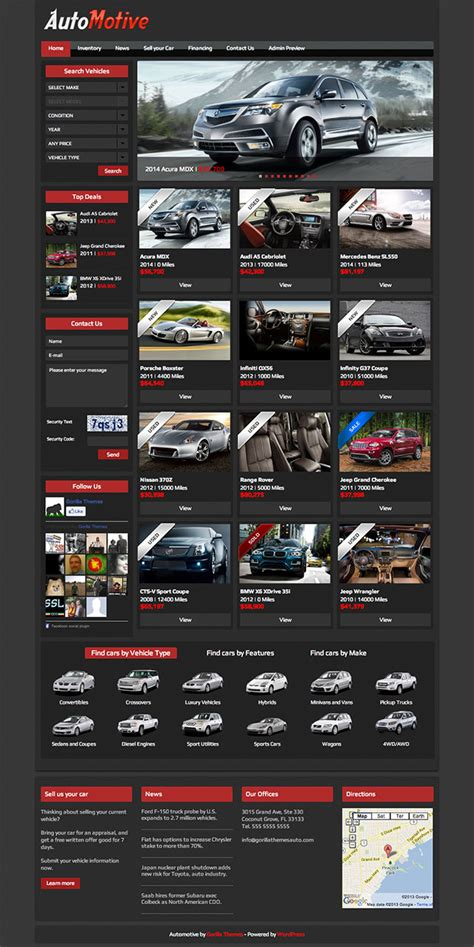 15 Best Car Dealer WordPress Themes 2018   aThemes