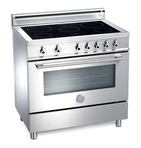 induction stove oven range cooker bertazzoni professional 90 induction top and electric oven range cooker stainless