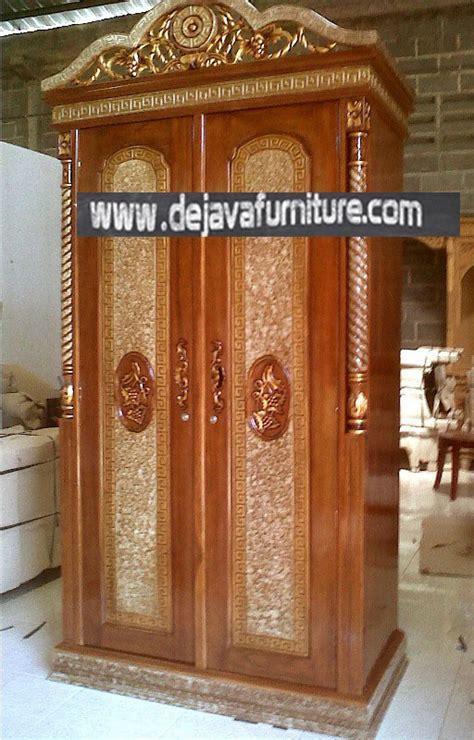 Lemari Jati 2 Pintu Ukir Mawar Peluru lemari pakaian jati rahwana 2 pintu jual mebel jepara
