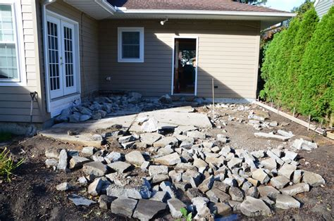 How To Remove A Patio by Remove Deck And Concrete Patio Replace With Sted