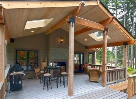top   deck roof ideas covered backyard space designs